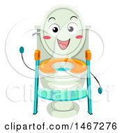 Clipart Of A Ladder Toilet Seat Mascot Royalty Free Vector Illustration by BNP Design Studio