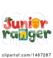 Clipart Of A Junior Ranger Word Design Royalty Free Vector Illustration