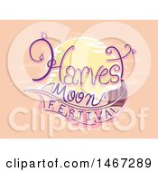 Clipart Of A Harvest Moon Festival Design Royalty Free Vector Illustration