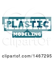 Clipart Of A Plastic Modeling Text Design Royalty Free Vector Illustration