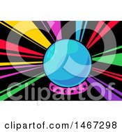 Clipart Of A Crystal Ball With Rainbow Rays Royalty Free Vector Illustration