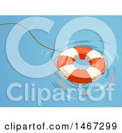 Clipart Of A Life Buoy Floater Royalty Free Vector Illustration by BNP Design Studio
