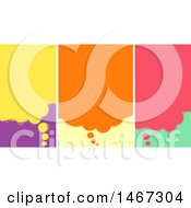 Clipart Of Colorful Panels Of Thought Balloons Royalty Free Vector Illustration