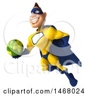 August 14th, 2017: Clipart Of A 3d Muscular White Male Super Hero In A Yellow And Blue Suit On A White Background Royalty Free Illustration by Julos