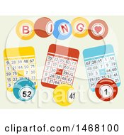 August 13th, 2017: Clipart Of A Bingo Card And Balls Background Royalty Free Vector Illustration by elaineitalia