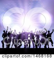 Clipart Of A Silhouetted Group Of Party People Dancing Royalty Free Vector Illustration