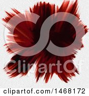 Poster, Art Print Of Deep Red Watercolor Explosion