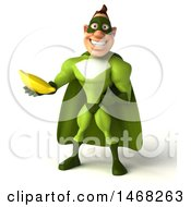 August 14th, 2017: Clipart Of A 3d Buff White Male Green Super Hero On A White Background Royalty Free Illustration by Julos