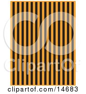 Orange Background With Vertical Black Stripes Clipart Illustration by Andy Nortnik