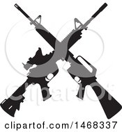 Silhouetted Crossed Rifle Design