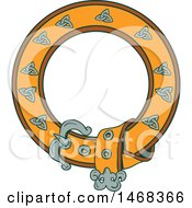 Clipart Of A Celtic Belt Forming A Round Frame Royalty Free Vector Illustration by patrimonio