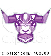 Clipart Of A Purple Robotic Yak Head Royalty Free Vector Illustration