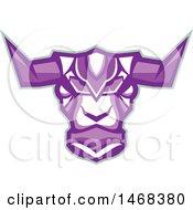 Purple Robotic Yak Head