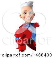 August 16th, 2017: Clipart Of A 3d Young White Haired Caucasian Female Super Hero In A Blue And Red Suit On A White Background Royalty Free Illustration by Julos