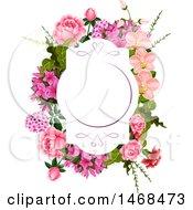 Poster, Art Print Of Floral Wedding Frame