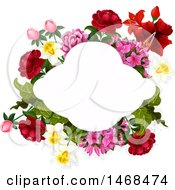 Clipart Of A Floral Wedding Frame Royalty Free Vector Illustration by Vector Tradition SM