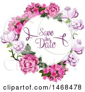 Floral Wedding Save The Date Design