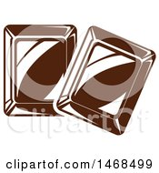 Clipart Of Chocolate Pieces Royalty Free Vector Illustration by Vector Tradition SM