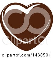 Clipart Of A Chocolate Heart Royalty Free Vector Illustration by Vector Tradition SM