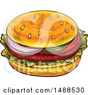 Sketched Hamburger