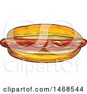 Sketched Hot Dog