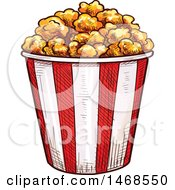 Sketched Buckte Of Popcorn
