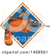 Power Drill And Hammer Over A Diamond