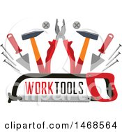 Clipart Of A Tool Design With Text Royalty Free Vector Illustration