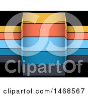 Clipart Of Colorful Infographic Banner Stripes Over Black Royalty Free Vector Illustration
