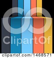 Colorful Infographic Banner Stripes Over Black