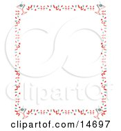 Stationery Background Of With A Border Of Confetti And Martinis Retro Clipart Illustration