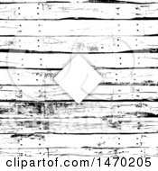 Diamond Frame On A Black And White Grungy Wood Panel Background