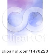 Clipart Of A Purple Watercolor Background Royalty Free Vector Illustration