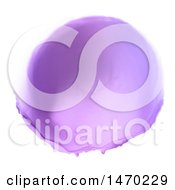 Clipart Of A Purple Watercolor Circle On White Royalty Free Vector Illustration