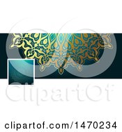 Clipart Of A Mandala Social Media Cover Banner Design Element Royalty Free Vector Illustration