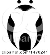 Clipart Of A Black And White Abstract Tooth Design Royalty Free Vector Illustration by Lal Perera