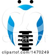 Clipart Of A Black And Blue Dental Implant Design Resembling A Bird Royalty Free Vector Illustration by Lal Perera