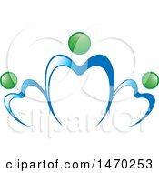 Clipart Of A Family And Teeth Design Royalty Free Vector Illustration by Lal Perera