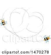 Clipart Of A Heart Formed By Flying Bees Royalty Free Vector Illustration by Lal Perera