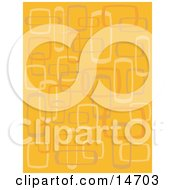 Abstract Orange Background With Boxes Clipart Illustration by Andy Nortnik