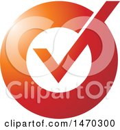 Clipart Of A Check Mark Icon Royalty Free Vector Illustration
