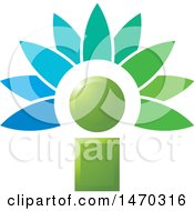 Clipart Of A Letter I Flower Royalty Free Vector Illustration