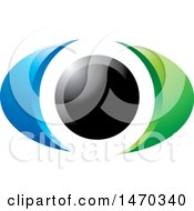 Clipart Of A Blue Black And Green Eye Royalty Free Vector Illustration by Lal Perera