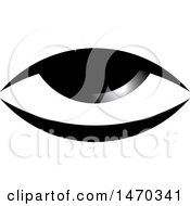 Clipart Of A Grayscale Eye Royalty Free Vector Illustration by Lal Perera