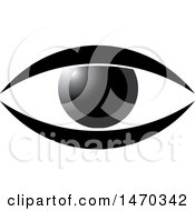 Clipart Of A Grayscale Eye Royalty Free Vector Illustration