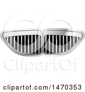 Clipart Of A Silver Grill Design Royalty Free Vector Illustration by Lal Perera