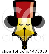 Clipart Of A Pen Nib With A Face Royalty Free Vector Illustration