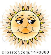 Clipart Of A Happy Sun Royalty Free Vector Illustration by Lal Perera