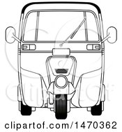 Clipart Of A Grayscale Tuk Tuk Auto Rickshaw Royalty Free Vector Illustration by Lal Perera