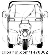 Grayscale Tuk Tuk Auto Rickshaw